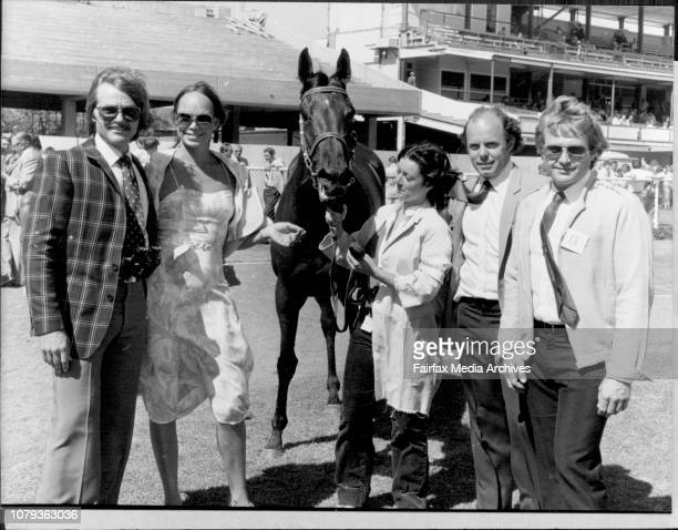 Bradfield HandicapOwners of Belle Pouliche left to right Ross Daisley wife Marietta Harvey Woodhouse and Peter Daisley strapper Jenny Davies December...