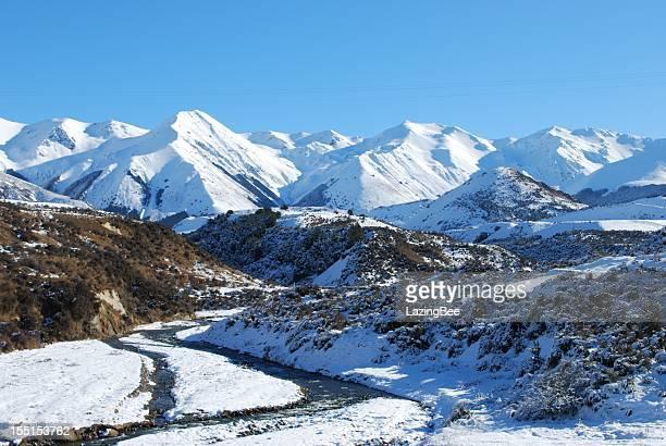 Canterbury Snow Scene, New Zealand