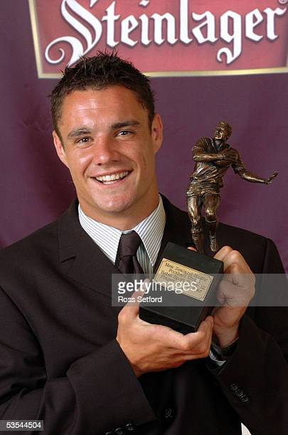 Canterbury's Dan Carter Super 12 player of the year at Steinlager Rugby Awards at the Town Hall Wellington New Zealand Thursday February 03 2005