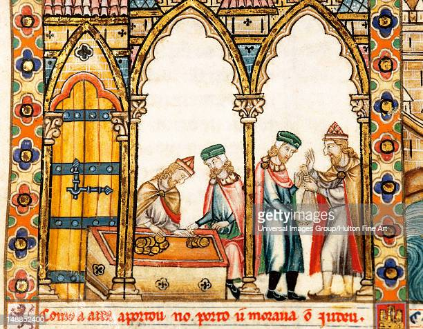 Cantigas de Santa Mar'a Reign of Alfonso X of Castile 'the Wise' Jewish bankers Library of El Escorial Madrid Spain National Heritage