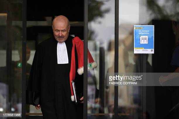 Canton of Vaud attorney general Eric Cottier exits the court on September 24 2020 in Renens near Lausanne after the verdict of an appeal against a...