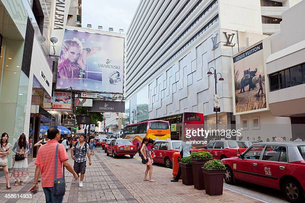 canton road, tsim sha tsui, hong kong - tsim sha tsui stock pictures, royalty-free photos & images