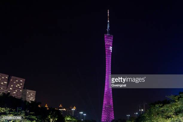 canton tower in guangzhou - gwengoat foto e immagini stock