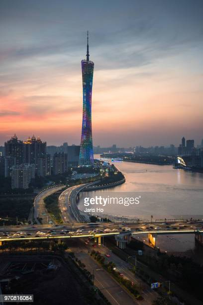 canton tower - guangzhou stock pictures, royalty-free photos & images