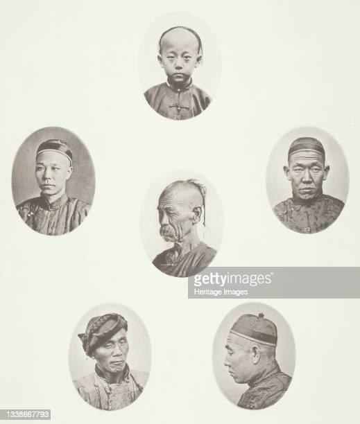 Cantonese Boy; Cantonese Merchant; Mongolian Male Head; A Venerable Head; A Labourer; Mongolian Male Head, circa 1868. A work made of collotype, pl....
