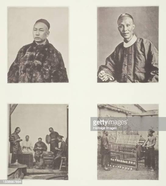 Cantonese Gentleman; A Cantonese Gentleman; Schroffing Dollars; Reeling Silk, circa 1868. A work made of collotype, pl. Xxii from the album...