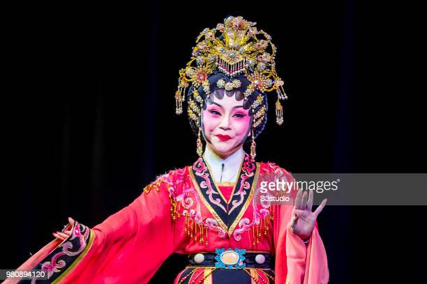 Cantonese opera artist performs on the stage during the opera u2018Lu Bu and Diao Chanu2019 at Sunbeam Theatre Hong Kong on 09 June 2018 in Hong Kong...
