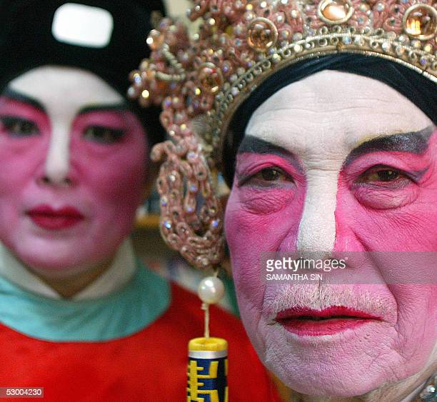 STORY AFPENTERTAINMENTHONG KONGOPERA MORE ON IMAGE FORUM Cantonese opera performers display their makeup in Hong Kong 21 May 2005 Before the 1950s...
