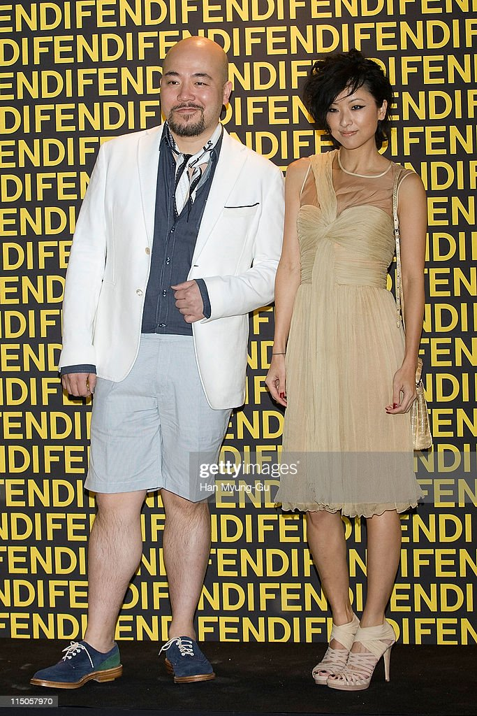 Cantopop lyricist Wyman Wong and Hong Kong actress Hilary Tsui attend the Fendi Han River Fashion Show on June 2, 2011 in Seoul, South Korea.