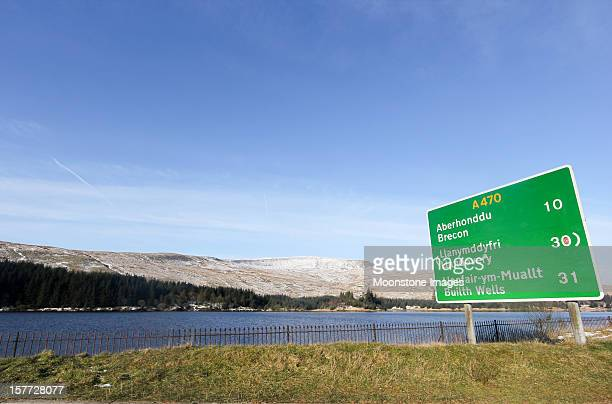 Cantref Reservoir in Brecon Beacons, Wales