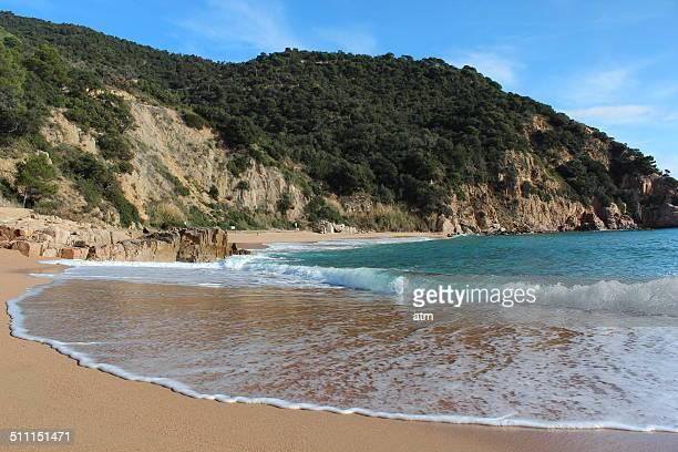 Canyerets beach in Costa Brava Girona