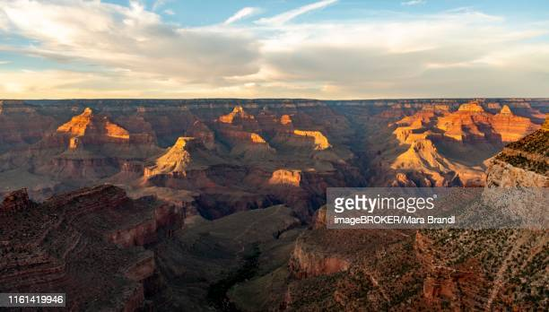Canyon Landscape in the Evening Light, Grand Canyon, Start Bright Angel Trail, South Rim, Grand Canyon National Park, Arizona, USA