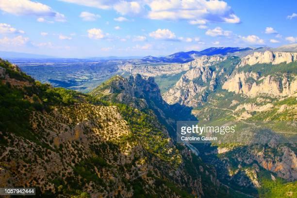 canyon of verdon gorges - gorges du verdon photos et images de collection