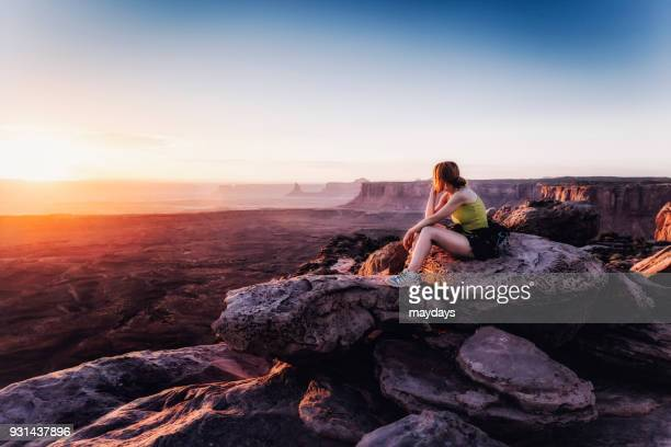 Canyonlands park at sunset