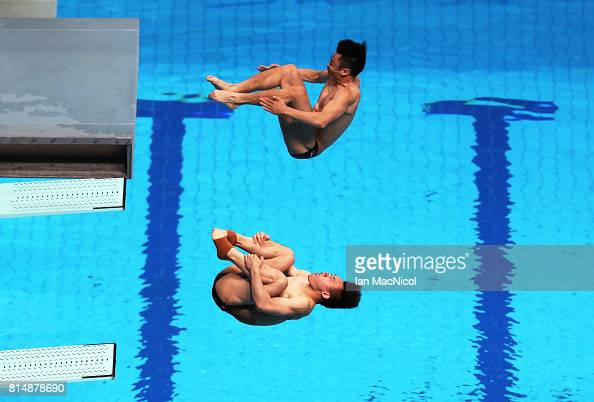 Great britain's jack laugher claimed bronze after finishing a total score. Cao Yuan and Xie Siyi of China compete in the Men's 3m ...