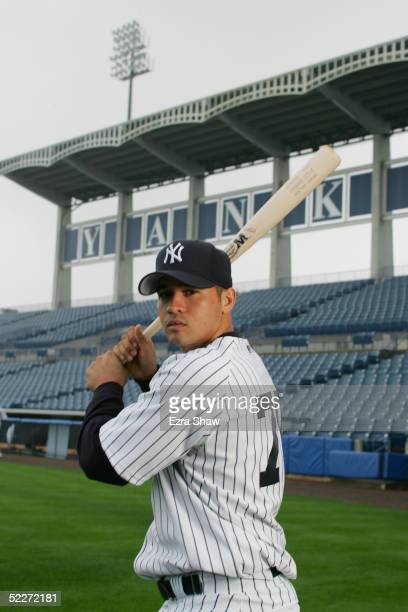 Caonabo Cosme of the New York Yankees poses for a portrait during Yankees Photo Day at Legends Field on February 25 2005 in Tampa Florida