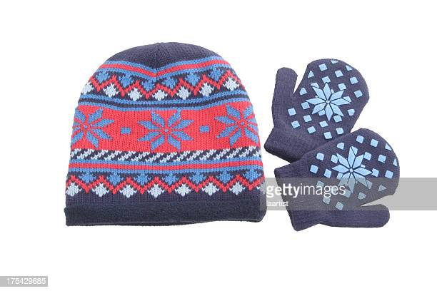 cap and mittens. - mitten stock pictures, royalty-free photos & images