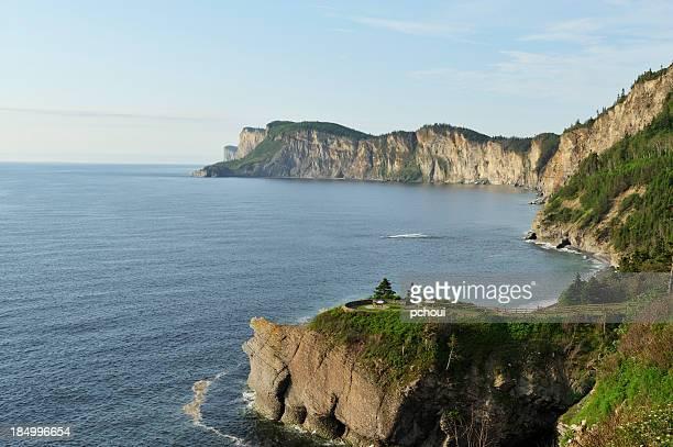 cap bon-ami, forillon national park - gaspe peninsula stock pictures, royalty-free photos & images