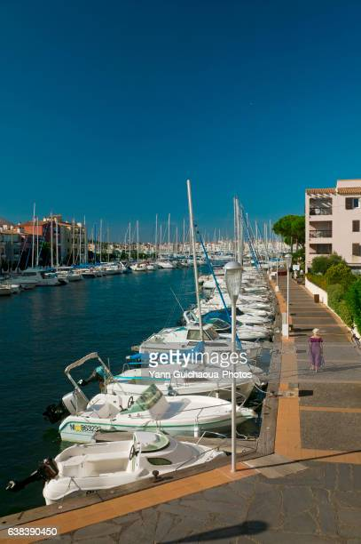 cap d'agde, herault, languedoc-roussillon,france - cap d'agde stock photos and pictures