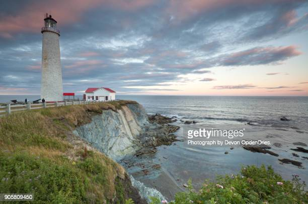 Cap des Rosiers Lighthouse During Sunset