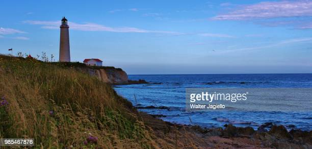 cap des rosiers lighthouse img_2709 - cap des rosiers stock pictures, royalty-free photos & images