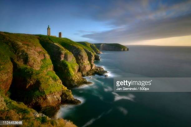 cap frehel - cotes d'armor stock photos and pictures