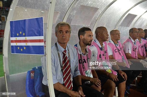 Cap Verde's coach Rui Aguas attends the 2015 African Cup of Nations group B football match between Cap Verde and Zambia on January 26 2015 in...