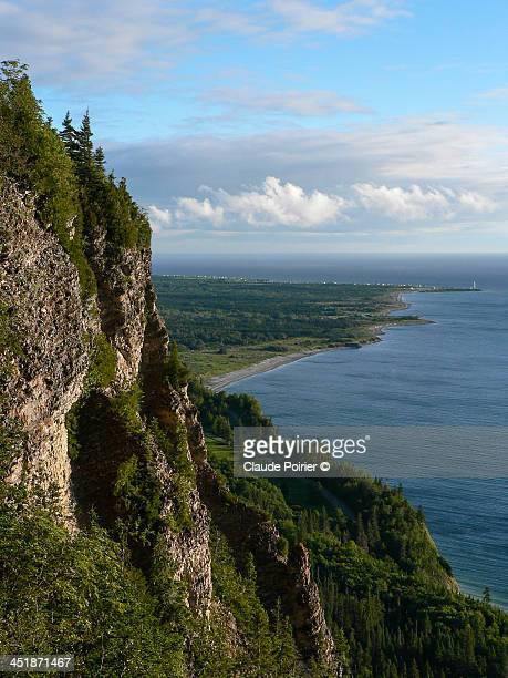 cap-aux-rosiers - forillon national park stock pictures, royalty-free photos & images