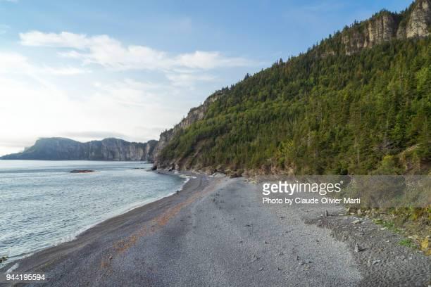 cap-bon-ami, forillon national park, gaspésie, canada - forillon national park stock pictures, royalty-free photos & images
