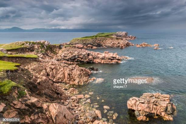 cape breton seacoast - cape breton island stock pictures, royalty-free photos & images