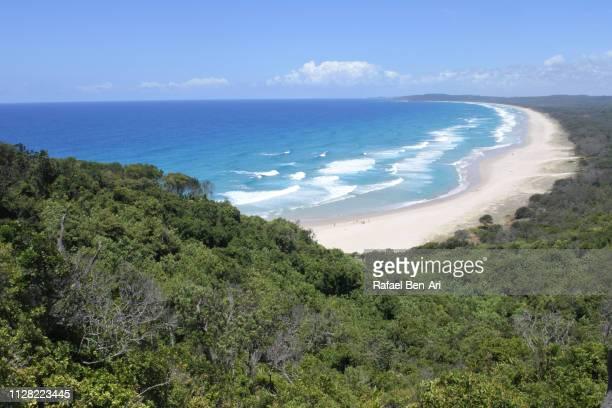 cape byron beach in new south wales australia - rafael ben ari stock-fotos und bilder