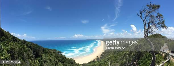 cape byron beach new south wales australia - rafael ben ari stock-fotos und bilder