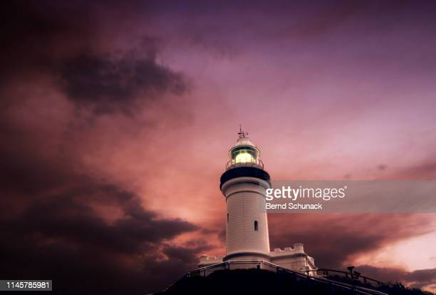 cape byron lighthouse - bernd schunack stock pictures, royalty-free photos & images