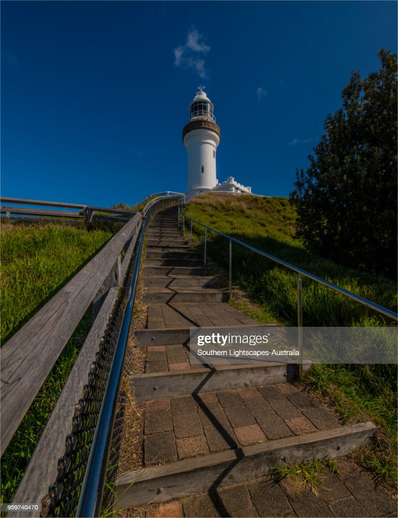 Cape Byron Track and lighthouse view, Byron Bay, New south Wales, Australia. : Stock-Foto