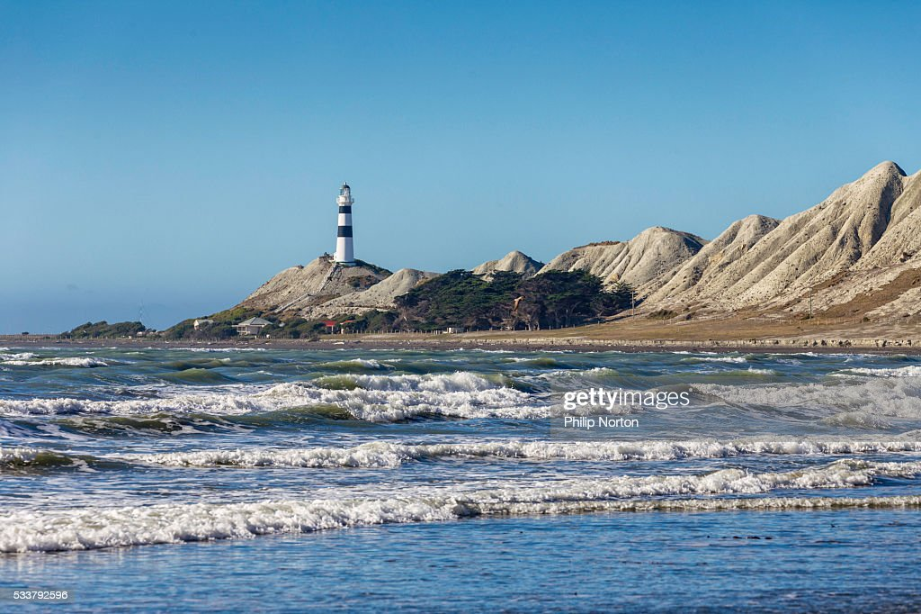 Cape Campbell from Beach : Foto stock