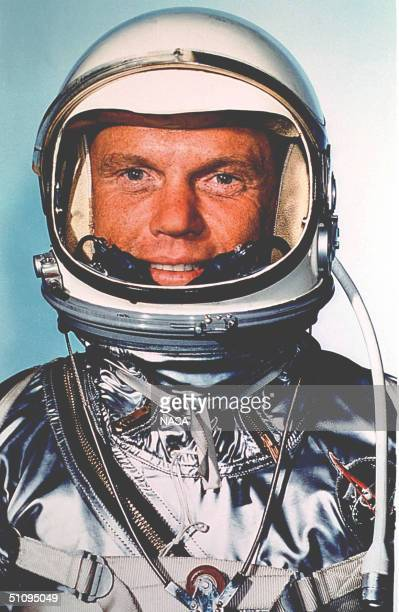 Cape Canaveral Fl Astronaut John Glenn Jr Fully Fitted In His Space Suit Prior To The Mercury Atlas 6 Launch February 20 1962