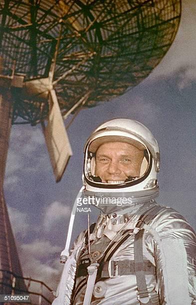 Cape Canaveral Fla Astronaut Lt Col John H Glenn Feb 13 1962