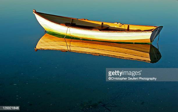 cape cod row boat and ocean - chatham new york state stock pictures, royalty-free photos & images