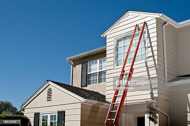 Cape Cod Style House With Ladder