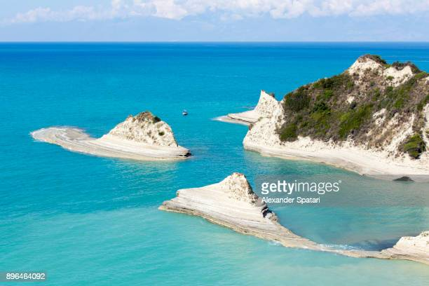 Cape Drastis cliffs on Corfu Island, Ionian Islands, Greece