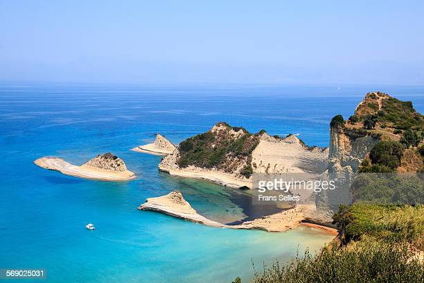cape drastis near sidari on corfu island, greece - frans sellies stockfoto's en -beelden