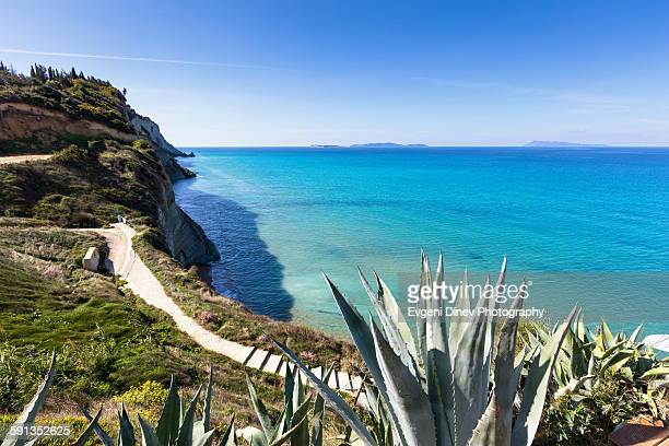 cape drastis - corfu stock pictures, royalty-free photos & images
