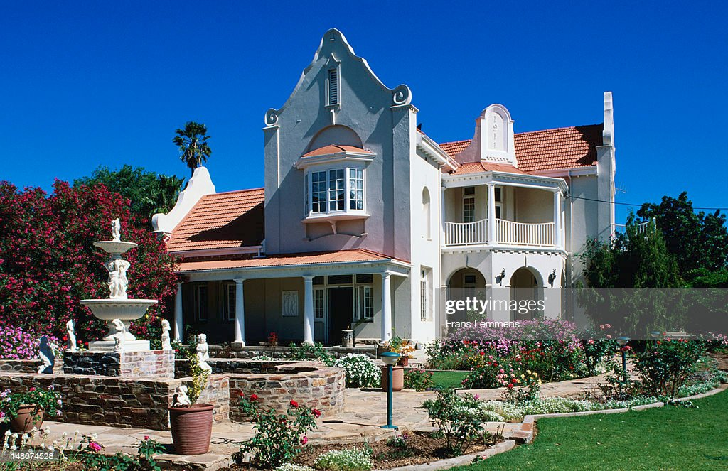 Cape dutch style house karoo stock photo getty images for Dutch style homes