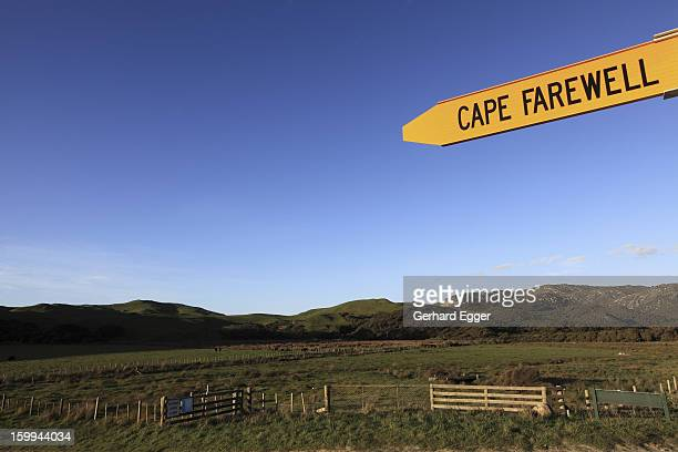 Cape Farewell sign post