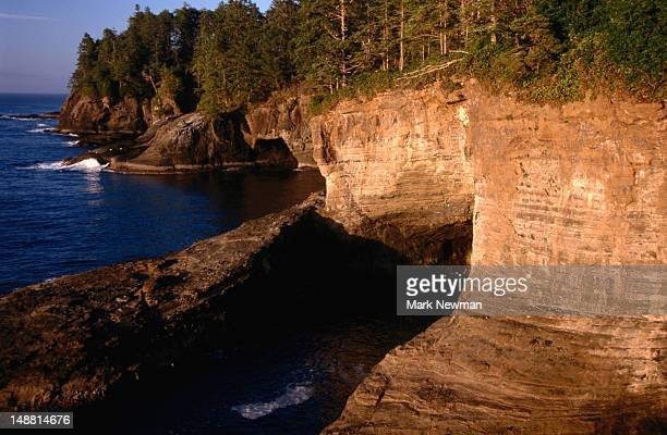 cape flattery, northwest most point of contiguous united states. - cape flattery stock photos and pictures