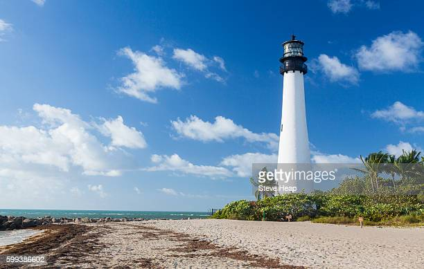 Cape Florida Lighthouse and Lantern in Bill Baggs State Park in Key Biscayne, Florida, USA