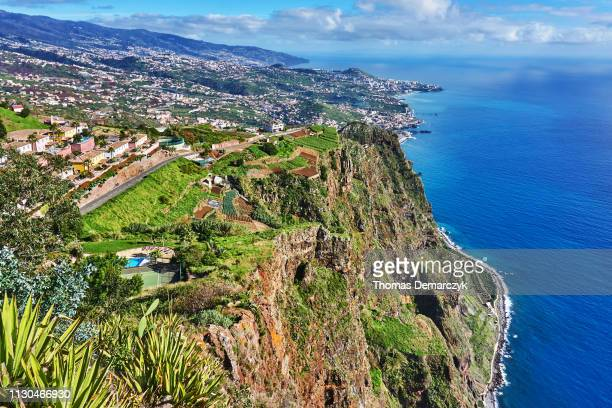 cabo girao - funchal stock pictures, royalty-free photos & images