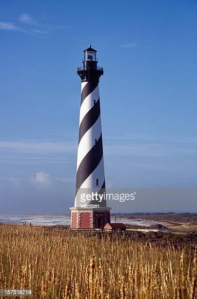 Cape Hatteras Lighthouse in golden summer