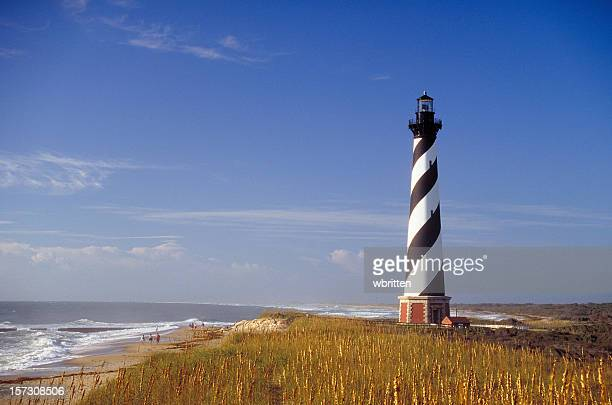 cape hatteras lighthouse - cape hatteras stock pictures, royalty-free photos & images