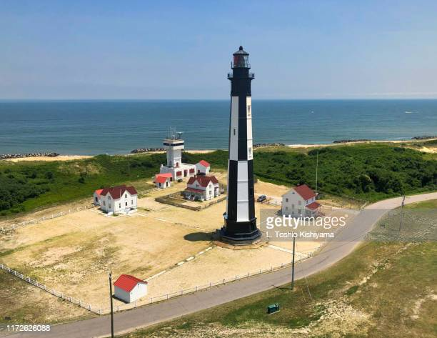 cape henry lighthouse in virginia beach - chesapeake bay stock pictures, royalty-free photos & images